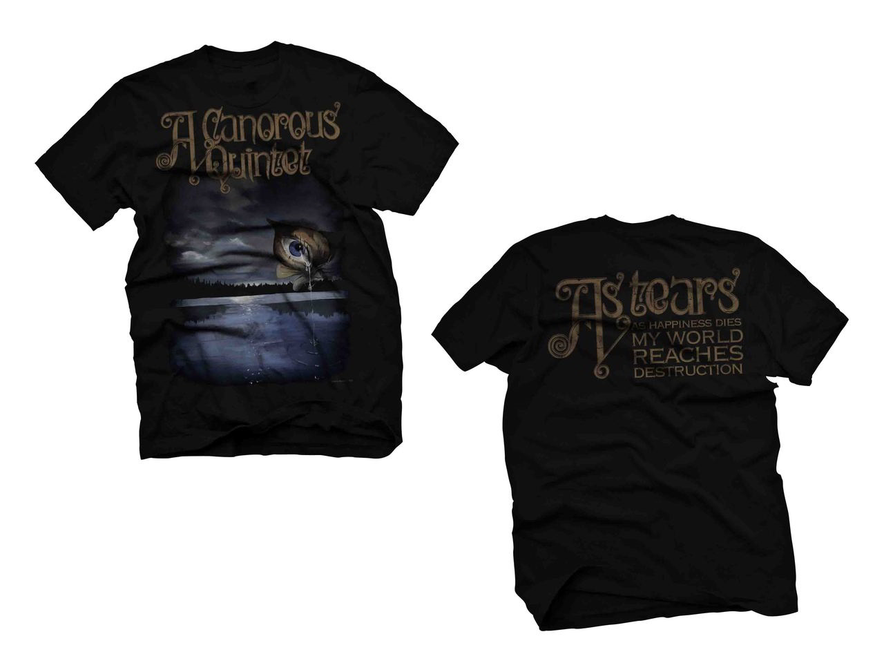 A Canorous Quintet As Tears T Shirt Small Chaos Records