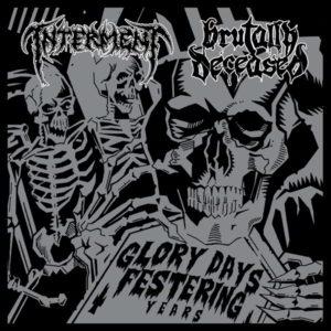 Interment / Brutally Deceased - Glory Days Festering Years Split Lp (Black)